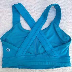 LULULEMON 2 blue sports bra